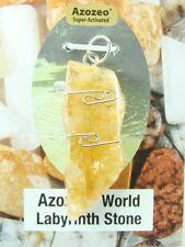 """1.6""""/41mm AZOZEO™ World Labyrinth Himalaya Gold Azeztulite™  Pendant #1105"""