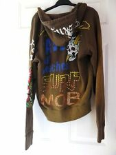ED HARDY by Christian Audigier sample studs hoodie - military green M  $70