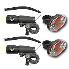 2 Set Fahrradlicht Mountain Fahrradlampe 7W Taschenlampe+9 LED Rückleuchte
