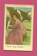 Jane Powell Milking a Cow Vintage Movie Film Star Card from Sweden #PA45