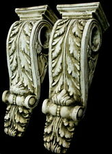 Antique Finish Shelf Acanthus leaf plaster Wall Corbel Sconce Bracket Home Decor