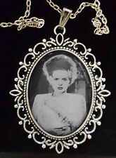 Bride of Frankenstein Antique Silver Pendant Necklace Goth Horror Elsa 1935