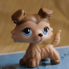 "Light Chocolate Collie Dog COLLECTION 2""  FIGURE LPS LITTLEST PET SHOP"