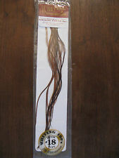 Fly Tying Whiting 100's Saddle Hackle Brown- sz#18