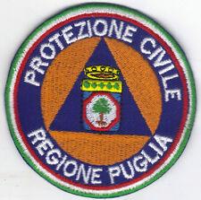 [Patch] PROTEZIONE CIVILE REGIONE PUGLIA cm 9 toppa ricamata ricamo termoad -082