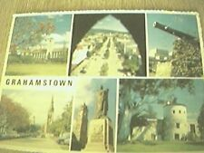 postcard used stamped franked grahamstown south africa