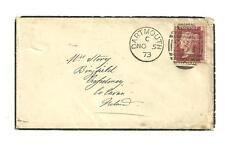 1873 British cover sent from dartmouth to ireland scott stamp #33