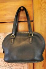 Vintage Coach Purse 9958 Bowler Dome Ziptop Handbag Black Leather Bag~Retired