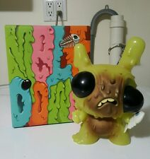 "Kid Robot Chris Ryniak MELTDOWN dunny 8"" GREEN EDITION"