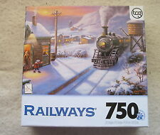 GREENVILLE DEPOT - RAILWAYS by Sung Kim - 750 piece TRAIN puzzle - NEW