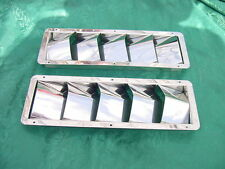 STAINLESS STEEL BOAT MARINE VENT  5 LOUVER BIG AIR 12-7/8 x 4-1/2 NEW PAIR 2 FER