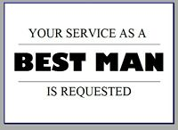 WILL YOU BE MY BEST MAN USHER GROOMSMAN PAGE BOY REQUEST CARD WEDDING
