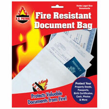 "Fire Resistant Document Bag Safe Storage Cash Jewelry Passport 10""X15"" fireproof"