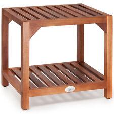 Beistelltisch Akazie Gartentisch Couchtisch Holztisch Gartenmöbel 45x33x42cm