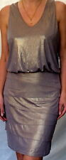 $245 PERRY ELLIS Tan Gold Beige Party Club Dress cocktail 10 M new byt