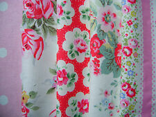 5 CATH KIDSTON COTTON DUCK FABRIC 20cm SQUARES LACE TRAILING PROVENCE SPOT #28
