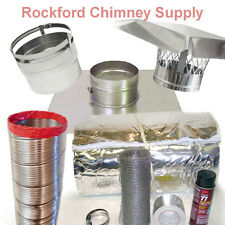 """6"""" x 25' Chimney Liner Insert Kit with 1/2"""" Insulation .006 316 Stainless Steel"""