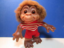 "Rare Vintage 7"" DAM MONKEY BOY TROLL DOLL - EXCELLENT"