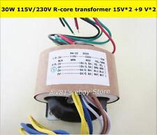 115 V / 230V 30W haute qualité audio r-core transformateur 15v +15 v 9v +9 V pour préampli