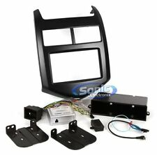 Scosche GM5204B Single/Double DIN Dash Install Kit for 2012-Up Chevy Sonic