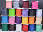 Wholesale 1MM Wax line Waxed Cord Beading String fit Bracelet Necklace