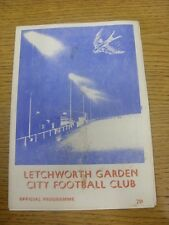 14/12/1977 Letchworth Garden City v Tring Town [Hitachi Cup] (Marked On front).