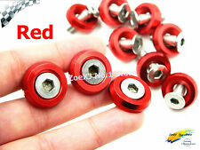 10PC RED M6x20MM Aluminum Fender Bumper Washers with Bolts DRESS UP for honda