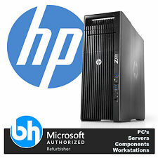 HP Z620 Xeon 2 x E5-2670 Octa Core 192GB RAM 256GB SSD & 1TB Workstation Win7 PC