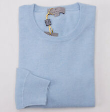 NWT $850 CANALI 1934 Sky Blue Extrafine 100% Cashmere Sweater 50/M Classic-Fit