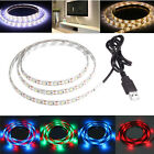50/100/200cm TV Background Lighting Kit USB LED Strip Light RGB Warm Cool White