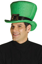 Irish Collapsible Green Top Hat - St. Patrick's Day Leprechaun Costume fnt