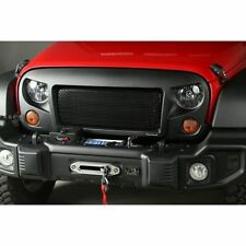 Rugged Ridge 12034.01 Spartan Grille w/ Plain Insert Black Satin