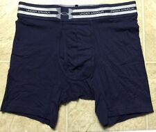 "UNDER ARMOUR CHARGED COTTON BOXERJOCK 6"" BOXER BRIEF UNDERWEAR MIDNIGHT BLUE S"