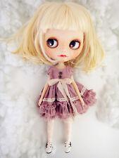 M-Style azone/licca/blythe size Doll Handmade flower dress purple