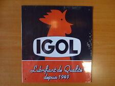 PLAQUES PUBLICITAIRE tolée L'age d'or de l'Automobile :  IGOL 20*24 cm