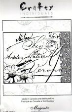 New CLING Crafty MAGENTA Rubber Stamp Milan collage lace postcard free USA ship