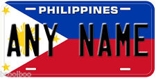 Philippines Flag Any Name Number Novelty Car License Plate