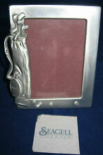 """SEAGULL PEWTER Picture Frame Golf Club Bag 1989 Canada 4"""" x 3.25"""" # PF1156"""