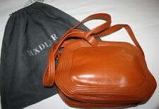 No Reserve Mint MADLER Italy Tan Soft Leather Shoulder Bag Purse Handbag EUC