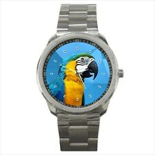 new best parrot polygon background sport metal watch free shipping