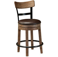 Ashley Furniture UPH Swivel Barstool (1/CN) Pinnadel Light Brown D542-124 New
