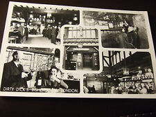 DIRTY DICKS PUBLIC HOUSE, LIVERPOOL ST, BISHOPSGATE, REAL PHOTO POSTCARD,