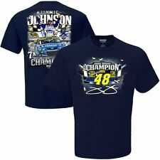NASCAR Jimmie Johnson #48-2016 Sprint Cup Series Champion T-Shirt-Navy, Large