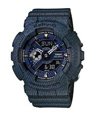 Casio Baby-G * BA110DC-2A1 Denim Pattern Dark Blue Anadigi Watch COD PayPal