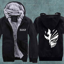 Anime Bleach Kurosaki Ichigo COS Cosplay Sweatshirt Hoodie Thicker Jacket Coat