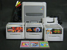 Nintendo Super Famicom Console + 12 game softs (Contra, Metroid) set