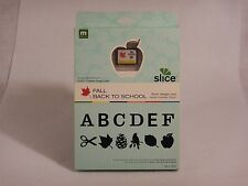 Making Memories Slice Design Die Cut Machine Card Fall Back to School MM 30943