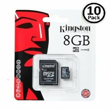Lot of 10 Kingston 8GB MicroSD SDHC Class 4 Memory Flash Card SDC4/8GB Pack
