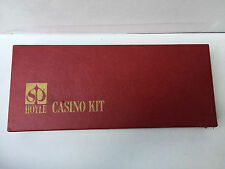 Vintage Hoyle Casino Kit Craps Blackjack Card Games Stancraft Products Red