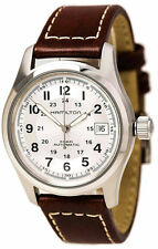 Hamilton Khaki Field Silver Dial Leather Automatic Men Watch H70455553 New orig